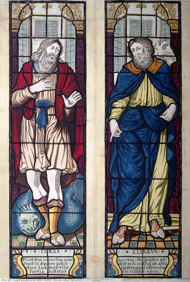 From the north window in the ante-chapel, Lincoln College, Oxford